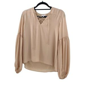 Lucca Long Sleeve Lace Up blouse